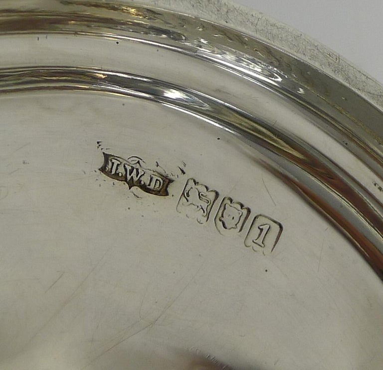 Antique English Sterling Silver Art Nouveau Reticulated Tazza / Bowl / Comport For Sale 4