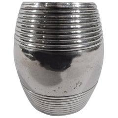 Antique English Sterling Silver Barrel Nutmeg Grater