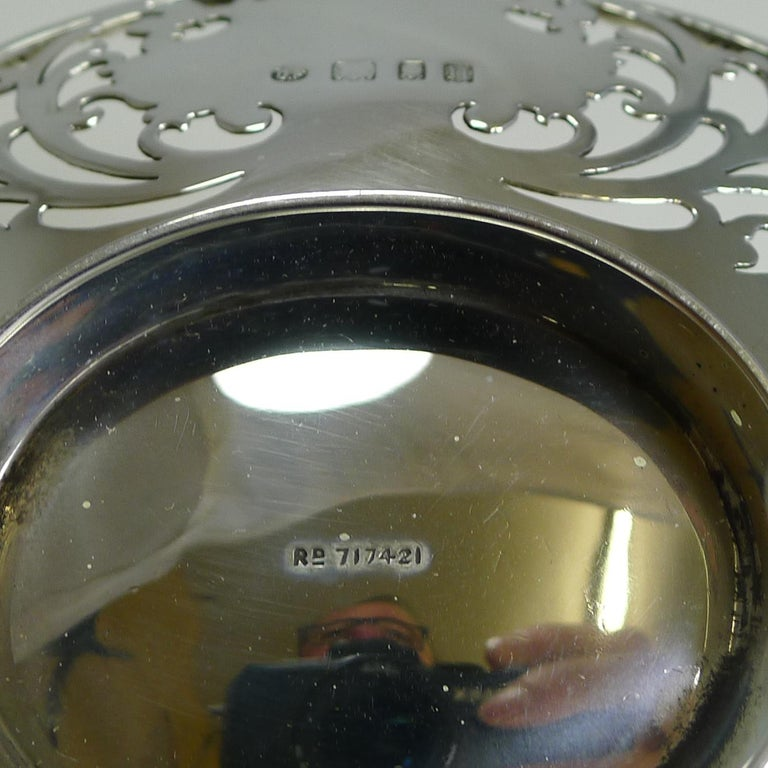 Antique English Sterling Silver Basket or Dish, 1908 For Sale 3