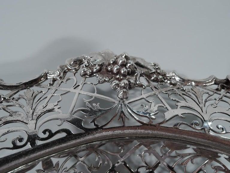 Edwardian Antique English Sterling Silver Centerpiece Grape Bowl For Sale