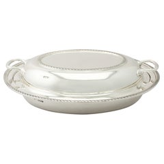 Antique English Sterling Silver Entree Dish