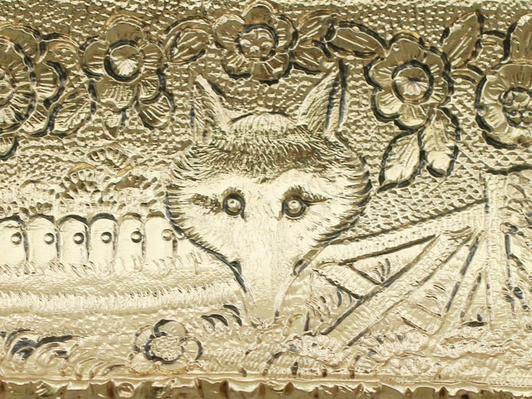 Antique English Sterling Silver Gilt Snuff Box 1824 6