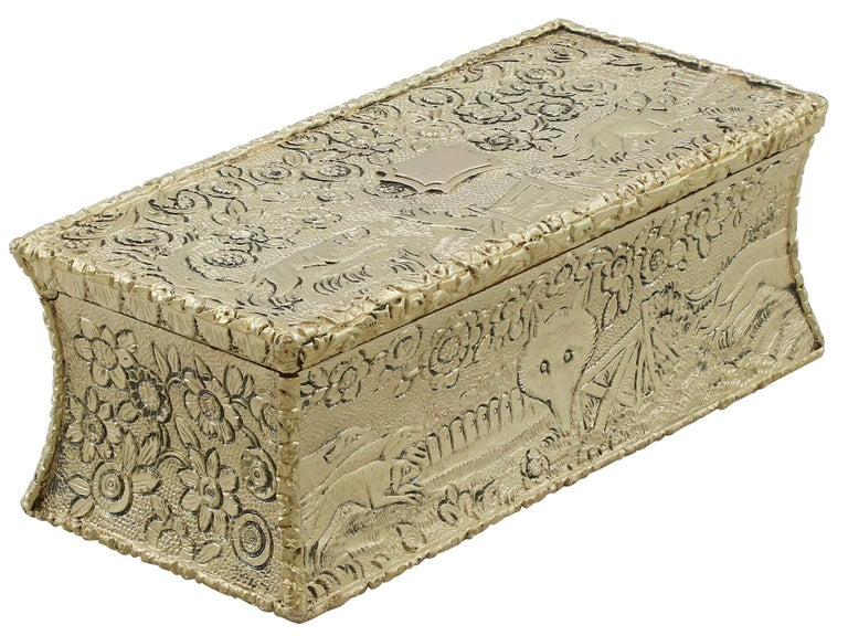 Antique English Sterling Silver Gilt Snuff Box 1824 In Excellent Condition In Jesmond, Newcastle Upon Tyne