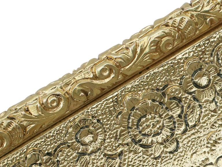 Antique English Sterling Silver Gilt Snuff Box 1824 3