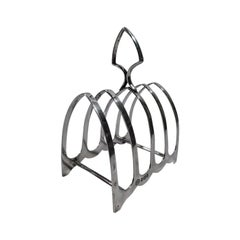 Antique English Sterling Silver Gothic Toast Rack