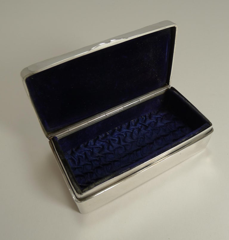 Early 20th Century Antique English Sterling Silver Jewellery Box, Reynold's Angels, 1901 For Sale