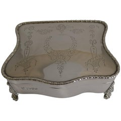 Antique English Sterling Silver Jewelry Box, 1911