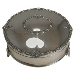 Antique English Sterling Silver Jewelry / Ring Box, 1917