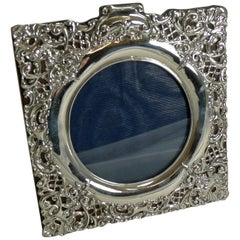 Antique English Sterling Silver Photograph Frame by Henry Matthews, 1899