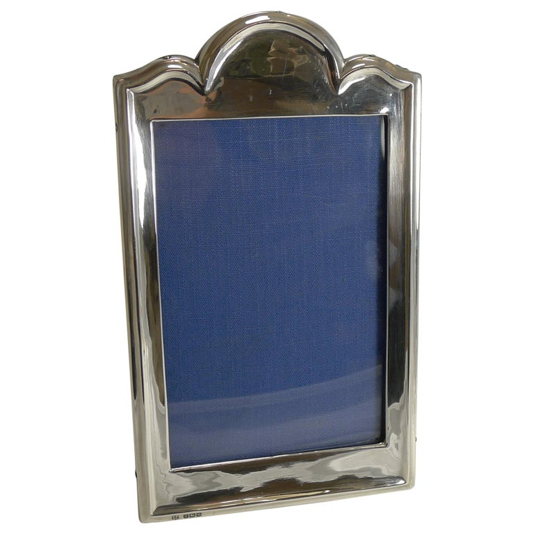 Antique English Sterling Silver Photograph Frame For Sale