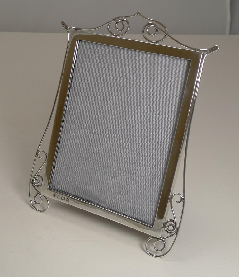 Edwardian Antique English Sterling Silver Photograph / Picture Frame, 1904 For Sale