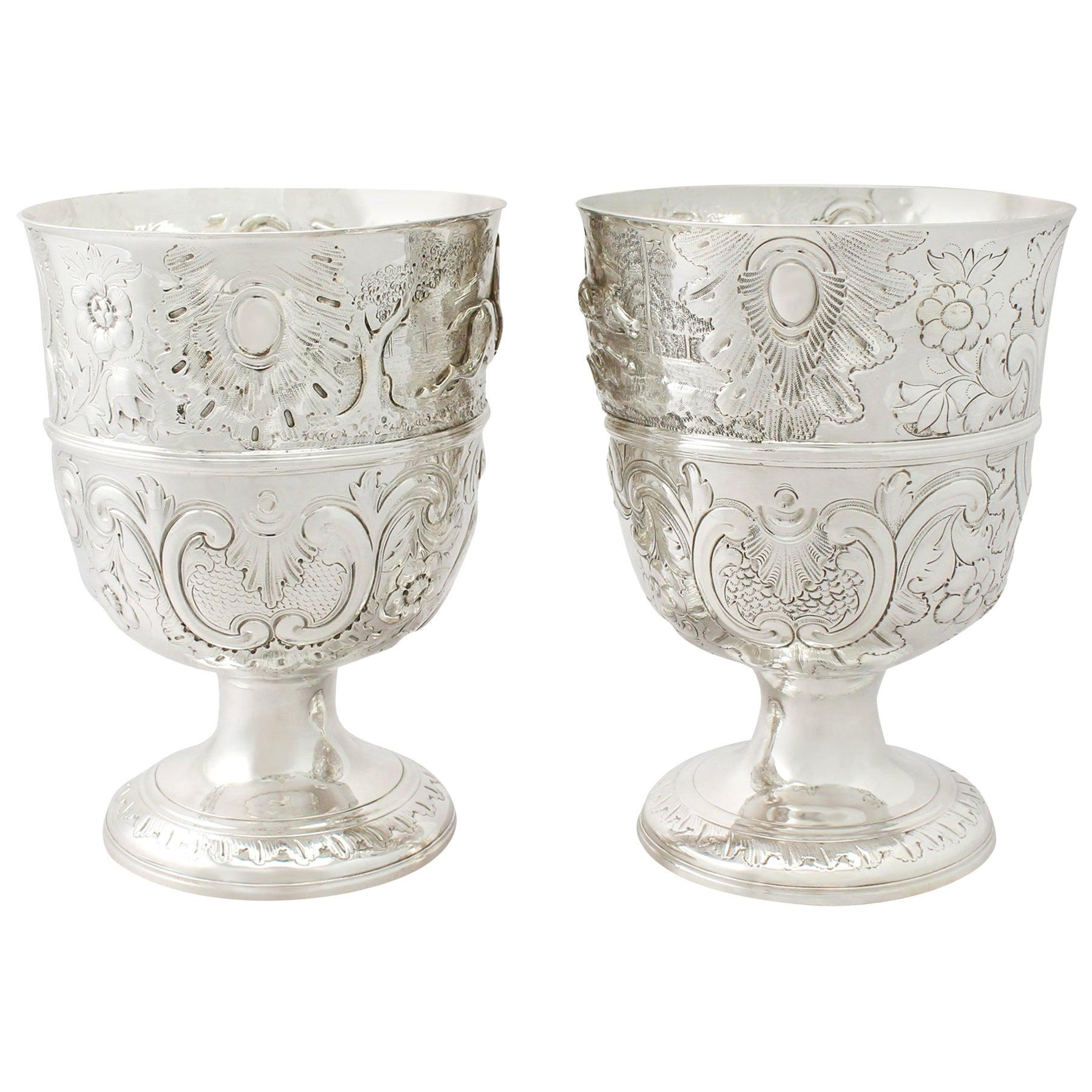 Antique English Sterling Silver Presentation Cups
