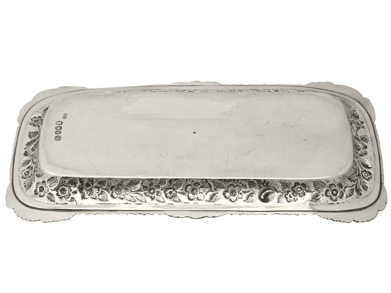 Antique English Sterling Silver Snuffer/Pen Tray by William Bateman I For Sale 1