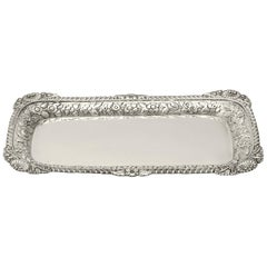Antique English Sterling Silver Snuffer/Pen Tray by William Bateman I
