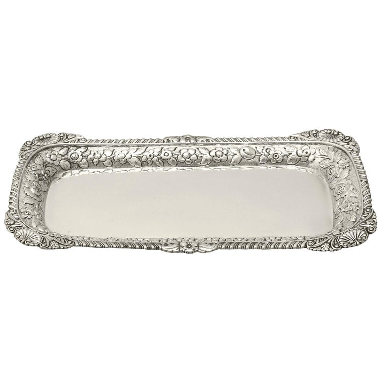 Antique English Sterling Silver Snuffer/Pen Tray by William Bateman I For Sale