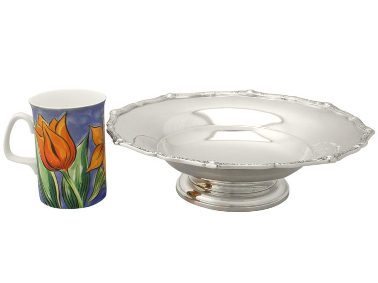 Mid-20th Century Antique English Sterling Silver Tazza Dish For Sale