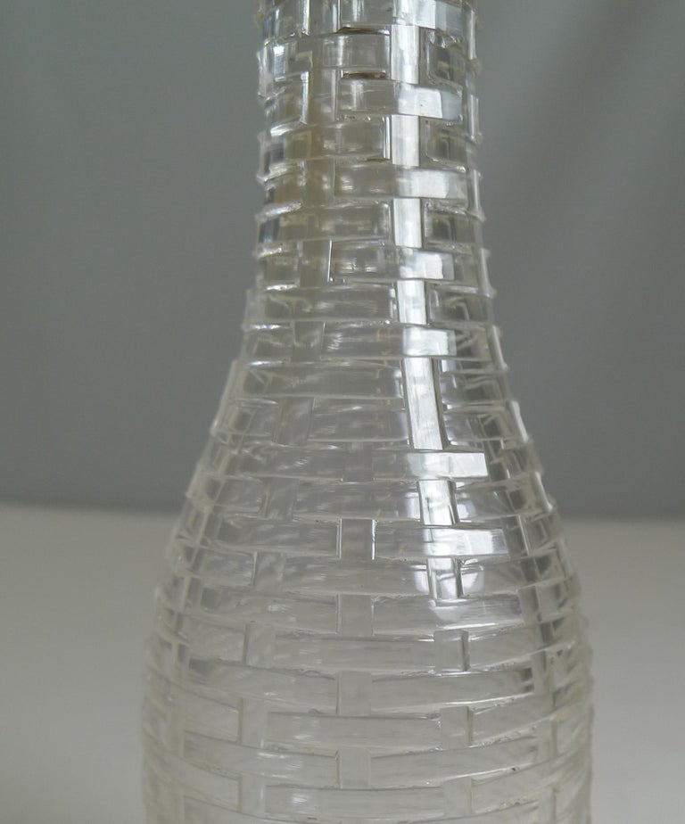 Late 19th Century Antique English Sterling Silver Topped Miniature Champagne / Liquor Bottle, 1898 For Sale