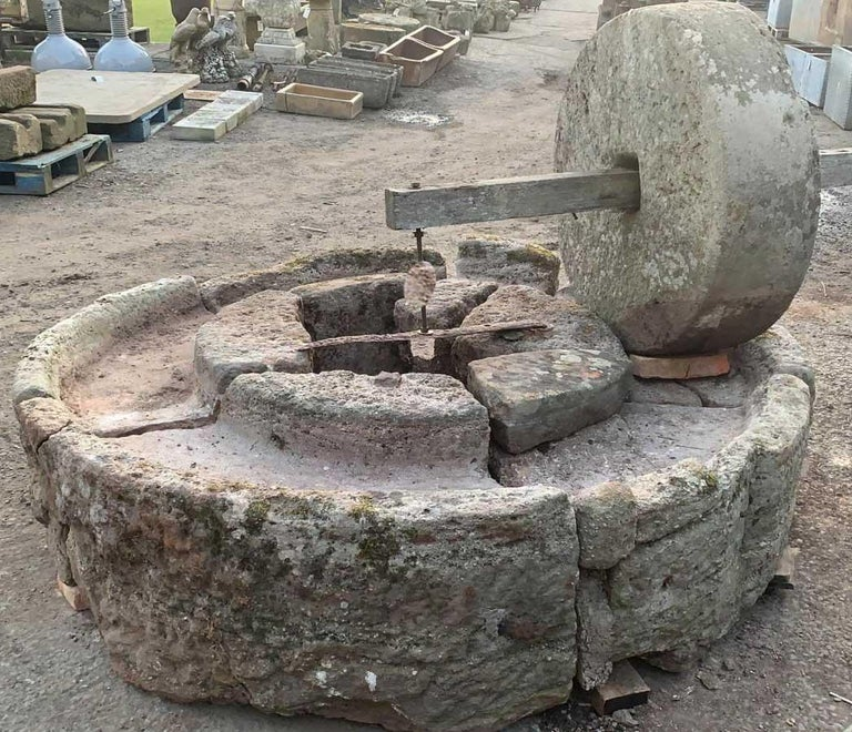 Antique English Stone Cider Press In Fair Condition For Sale In Wormelow, Herefordshire