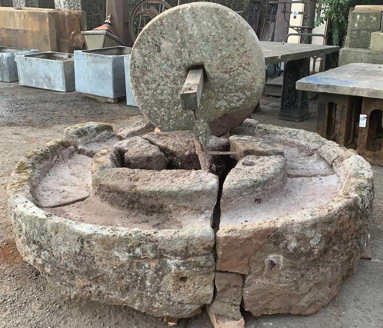 18th Century and Earlier Antique English Stone Cider Press For Sale
