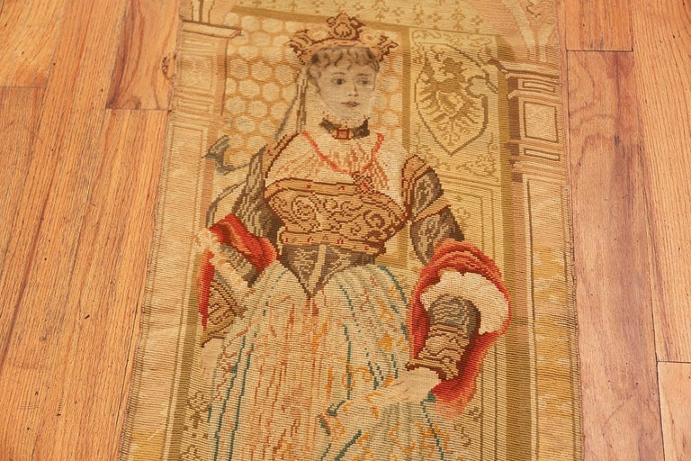 Antique English Tapestry In Good Condition For Sale In New York, NY