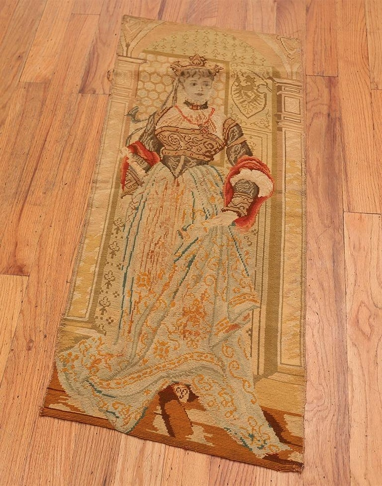 Hand-Woven Antique English Tapestry For Sale