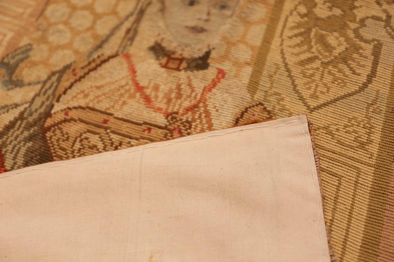 19th Century Antique English Tapestry For Sale