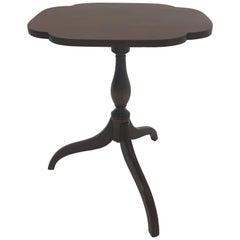 Antique English Tilt Top Mahogany Side Table
