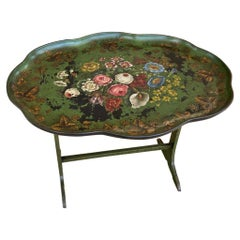 Antique English Tole Tray Coffee Table