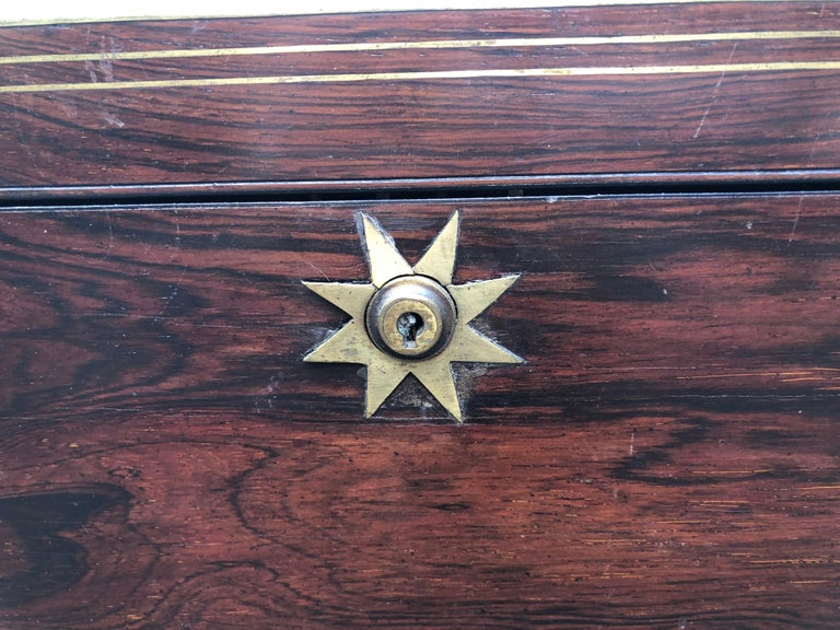 Antique English Traditional Lap Desk on Custom Stand For Sale 4
