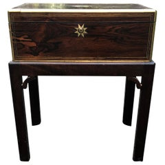 Antique English Traditional Lap Desk on Custom Stand