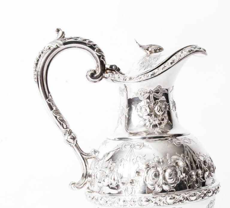 English Victorian 5 Piece Tea Coffee Set With Tray By John