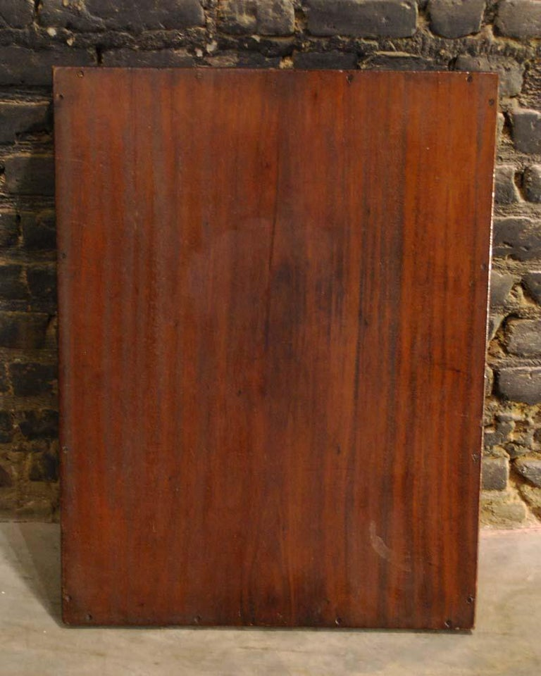 Antique English Victorian Butler's Tray Table in Mahogany on Folding Stand For Sale 2