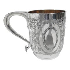 Antique English Victorian Classical Sterling Silver Baby Cup