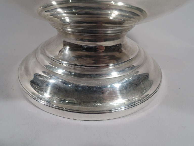 Late 19th Century Antique English Victorian Classical Sterling Silver Trophy Cup For Sale