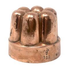 Antique English Victorian Copper Jelly Mold, Circa 1880