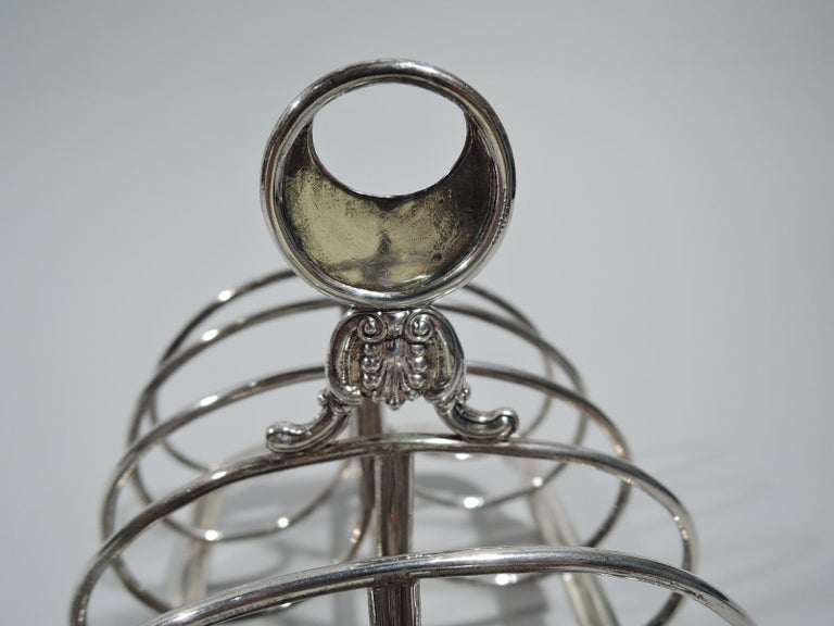 Antique English Victorian Georgian Sterling Silver Toast Rack In Good Condition In New York, NY