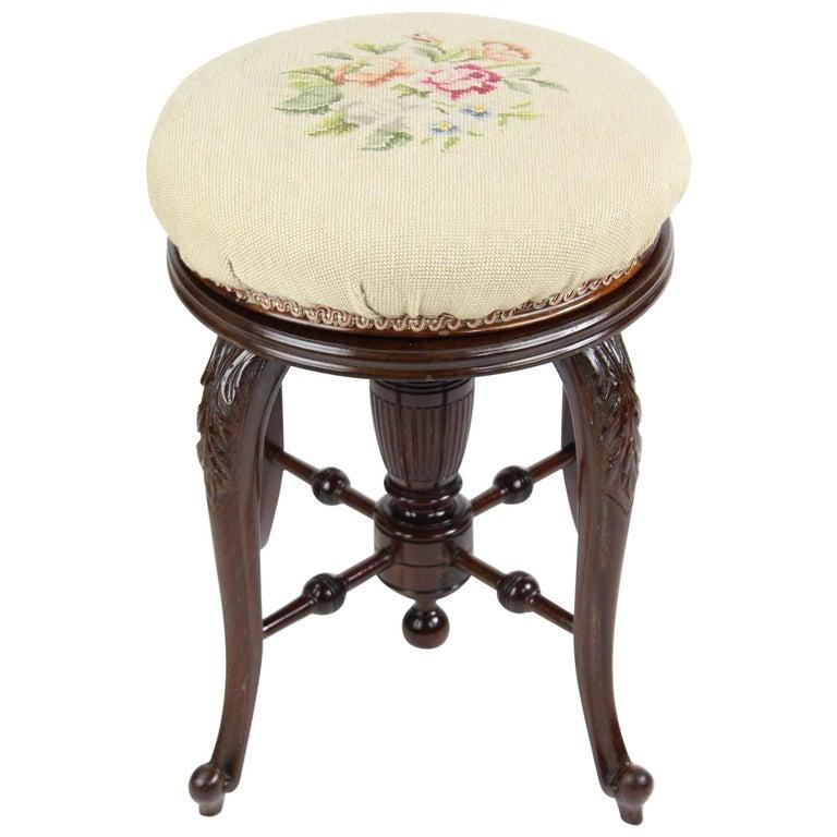 Surprising Antique English Victorian Mahogany Rise And Fall Piano Stool Music Bench Chair Inzonedesignstudio Interior Chair Design Inzonedesignstudiocom
