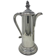 Antique English Victorian Silver Plated Tankard, circa 1870-1890