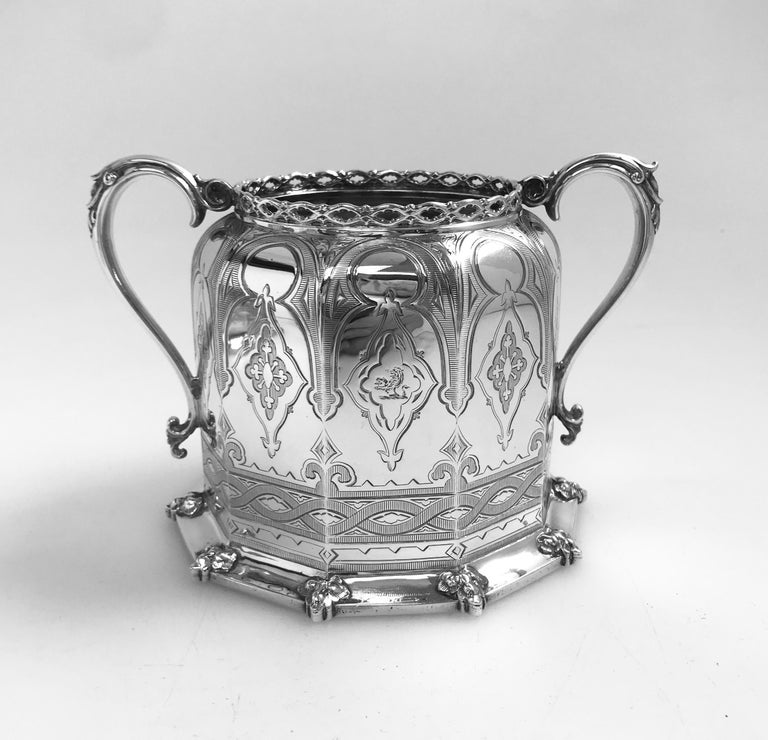 Mid-19th Century Antique English Victorian Silver Tea and Coffee Service For Sale