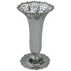 Antique English Victorian Sterling Silver Vase