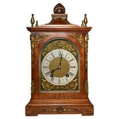 Antique English Walnut Bracket Clock, circa 1860