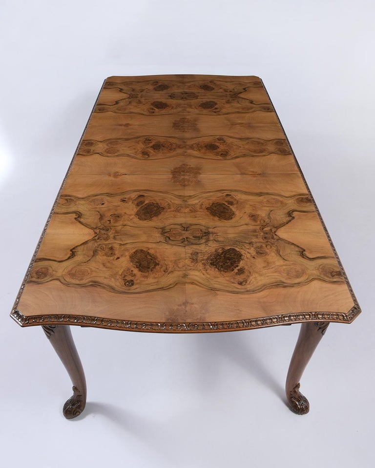 Antique English Walnut Dining Table For Sale 2