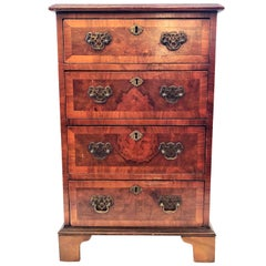 Antique English Walnut Small Chest of Drawers