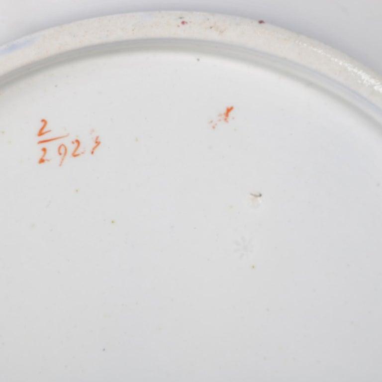 Antique English Wedgwood Noma School Flow Blue and Gilt Porcelain Gravy Boat For Sale 7