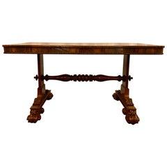 Antique English William IV Rosewood Table, circa 1830-1840