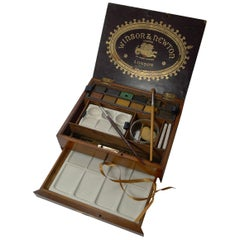 Antique English Winsor and Newton Artist's Watercolour / Paint Box, c.1885