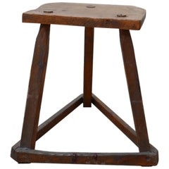 Antique English Wooden Cutler's Stool or Side Table 'No.1'