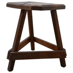 Antique English Wooden Cutler's Stool or Side Table (No.2)