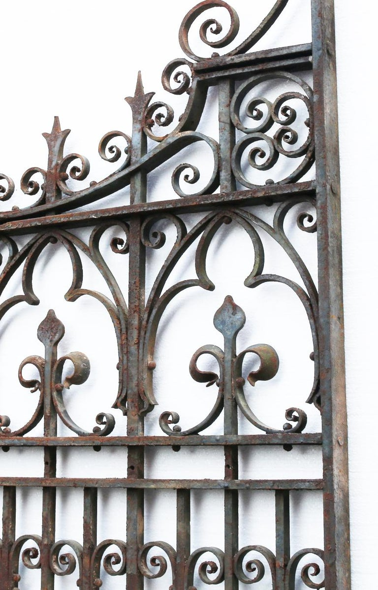 Victorian Antique English Wrought Iron Garden Gate For Sale