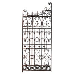 Antique English Wrought Iron Garden Gate